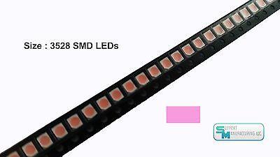 Pack Of 100 Pink 1210 Plcc-2 3528 Smd Smt Led Light Chip