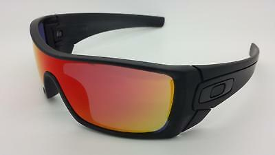 - NEW Oakley Batwolf Sunglasses, Matte Black Ink / Ruby Iridium, OO9101-38