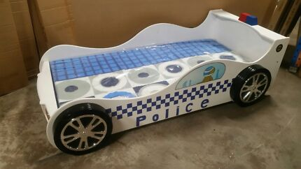 Police car bed with mattress package
