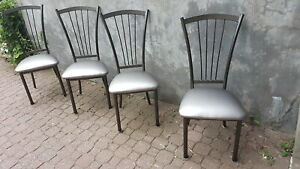 4 chaises siège neuf 4 dining  chairs new seats