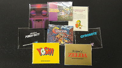 25 Nes Manual And Insert Bags Protect Your Contents Too Nintendo Cib Sleeves