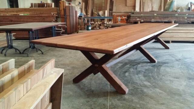Re cycled 5 metre Hard Wood Timber Table Dining Tables  : 58 from www.gumtree.com.au size 640 x 360 jpeg 32kB