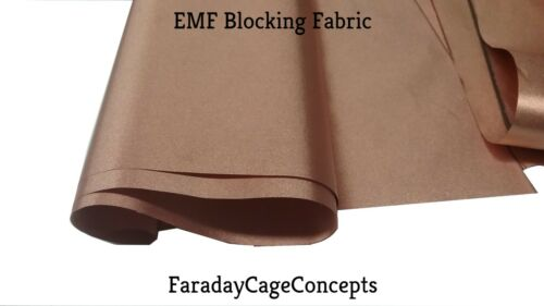"EMF RFID RF Shielding Copper Fabric Roll - 43"" x 3"