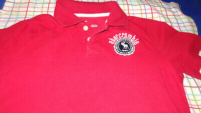 Abercrombie Kids Boys Youth Red Polo Shirt Short sleeves  Size 13/14