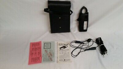 Ge Amp-volt Clamp On Meter With Leads Case