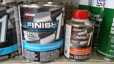 1 Quart KIT Finish 1 Satin Clear Coat  Finish1 FC750 and FH7421/2pt (Satin Clear Coat)
