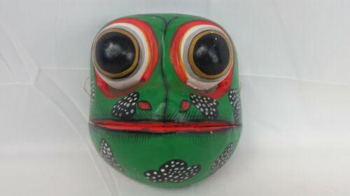 Vintage Wooden Frog Mask~Bali~Indonesia 🐸