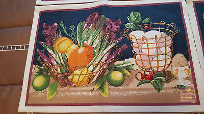 Hearth & Home Kitchen Dining & More Fruit, Vegetable Set 8 Placemats Cotton New Cotton Rectangular Fireplace