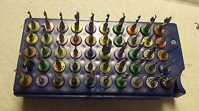 50 pcs. Mix lot, Carbide Drill Bits, Dremel / Jewelry / Tools, USED