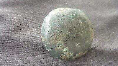 Stunning VR early Medieval button found in Europe in uncleaned condition. L133i