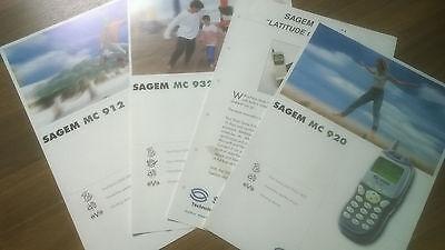 Sagem Werbung, Technische Daten, MC912, 932, 920, Flyer, DINA4