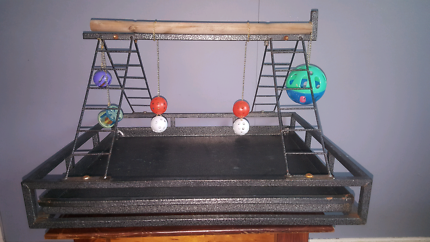 Bird gym stand. Out of cage parrot play zone!