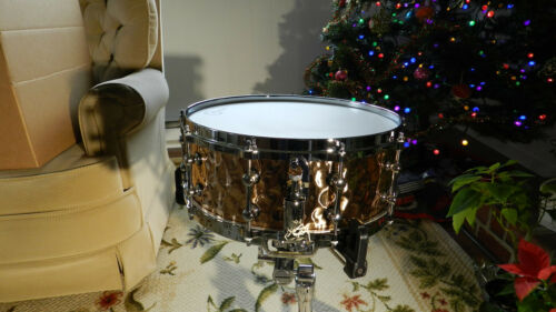 """""""TKO"""" Hand hammered bronze snare drum,5.5x14"""""""