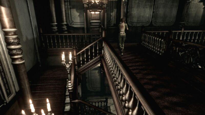 Auch mit anderen Charakteren, hier mir der jungen Rebecca Chambers, dürfen wir das Herrenhaus erkunden.