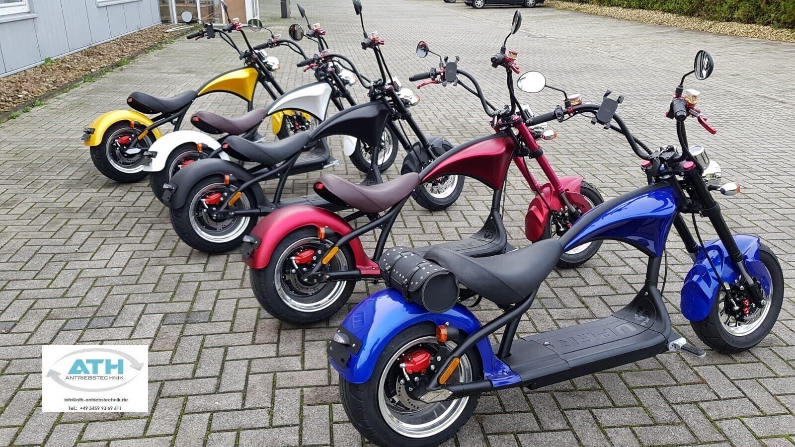 Elektro Roller Scooter Citycoco Chopper Model 2019 m. Straßenzulassung zu Inseln