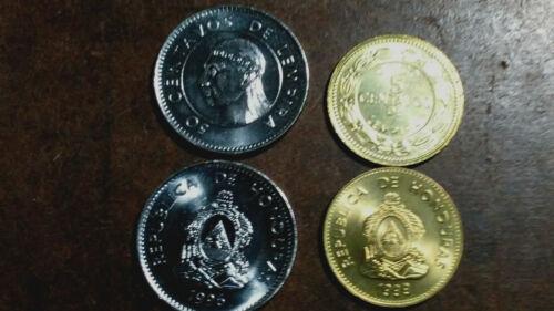 HONDURAS: 5 PIECE UNCIRCULATED VARIETY SET, 5 TO 50 CENTAVOS