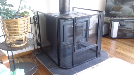 Wood stove fire place surround