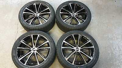 """20"""" JBW FE10 BLACK MACHINED ALLOY WHEELS+TYRES 255/45x20 TO VW T5 SET OF 4"""