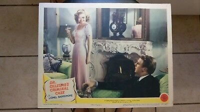 DR. GILLESPIE'S CRIMINAL CASE 1943 #7 11X14 LOBBY CARD LIONEL BARRYMORE D REED