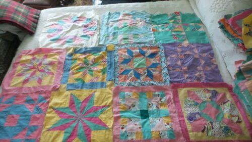 112 Antique QUILT BLOCKS Assorted Patterns, Colors, Size