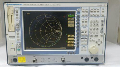 Rohde & Schwarz ZVCE Vector Network Analyzer 20kHz to 8GHz, 90 Day Warranty
