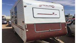SPACELAND 2000 DELUXE ensuite caravan with queen bed Flagstaff Hill Morphett Vale Area Preview