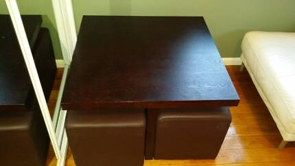 Coffee/dining table with ottomans for sale Leichhardt Leichhardt Area Preview