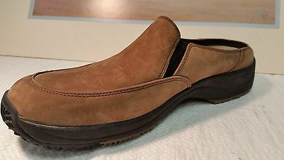 """Clarks Brwon Suede Shoes Mules Womens size 8 """" CLEAN"""""""