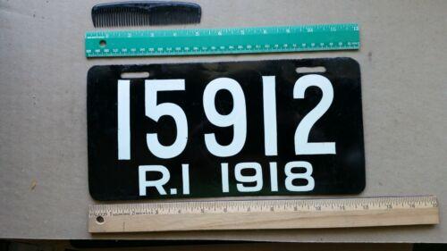 License Plate, Rhode Island, 1918, Restored, 15912