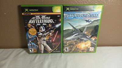 2  Original Xbox Game Lot Bundle - STAR WARS BATTLEFRONT II, AIR FORCE DELTA