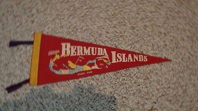 BERMUDA ISLAND ATLANTIC OCEAN   FELT  PENNANT 1950'S