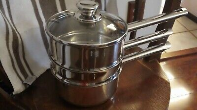 Stainless Steel Steamer And Boiler Sauce Pan 4 Pc -gused