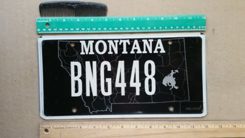 License Plate, Montana, Specialty: BNG 448 Bucking Bronco (like Wyoming!)
