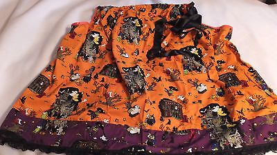 Adult Halloween Witch Pillowcase Dress  One Size Orange Print (Pillowcase Halloween Costume)