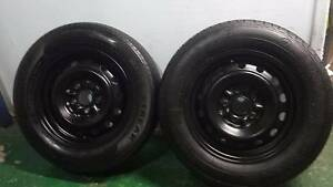 """2 X 15"""" 5 STUD TRAILER WHEELS AND TYRES 5X114.3 mm PCD ford hubs Kallangur Pine Rivers Area Preview"""