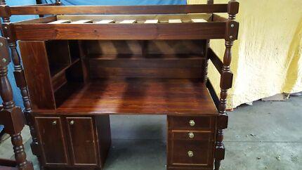 Pair of 2 Timber Desk/Loft Beds  Doncaster Manningham Area Preview