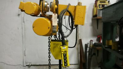 560 1 Ton Budgit Electric Chain Hoist- 18lift 16 Fpm Motorized Trolley 3ph