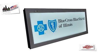Insurance Sign Bluecross Blueshield Signled Light Box Sign 12x30 Inc