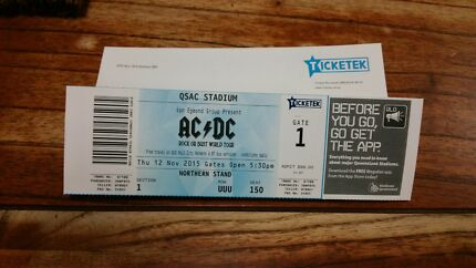 ACDC SOLD OUT CONCERT Caboolture South Caboolture Area Preview