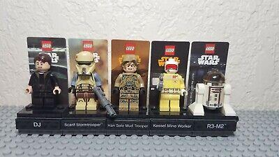 LEGO Star Wars Framed Polybag Minifigures X5 R3M2, Mudtrooper, Kessel Worker,...