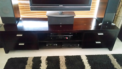 Tv unit solid timber