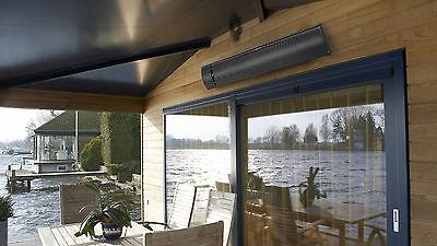 Terrassenheizung + Fernbedienung Terrassenstrahler Infrarot Dunkelstrahler 1800W