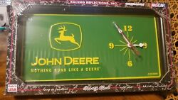 John Deere License Plate Wall Clock Nothing Runs Like a Deere Racing Reflections