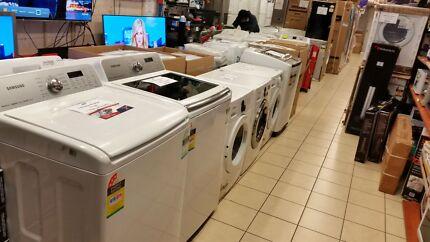 With warranty refurbished washers & fridges