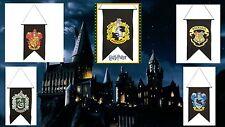 Harry Potter 5 Banner Set HOGWARTS GRYFFINDOR HUFFLEPUFF RAVENCLAW SLYTHERIN NEW