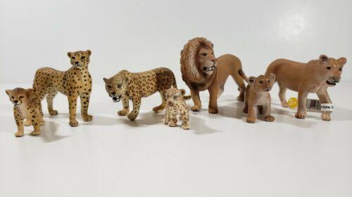 SCHLEICH LOT 7 CHEETAH JAGUAR LION LIONESS Adults and cubs