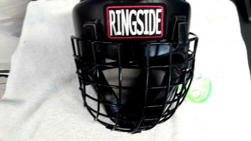 Ringside Safety Cage Training Headgear -SIZE Adult LARGE-Black + Mouthguard Case