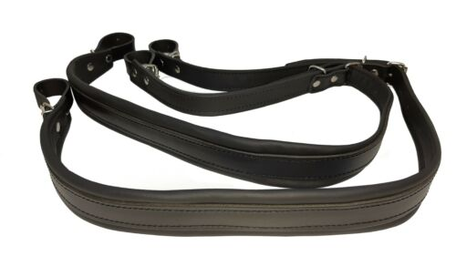 Accordion Genuine Leather Straps Black 120 bass
