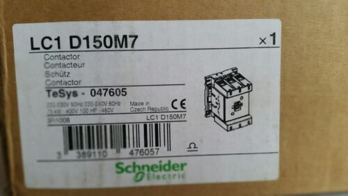 SCHNEIDER ELECTRIC, LC1 D150M7 Contactor, *NEW*