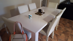 Dining table and chairs and tv unit Christies Beach Morphett Vale Area Preview